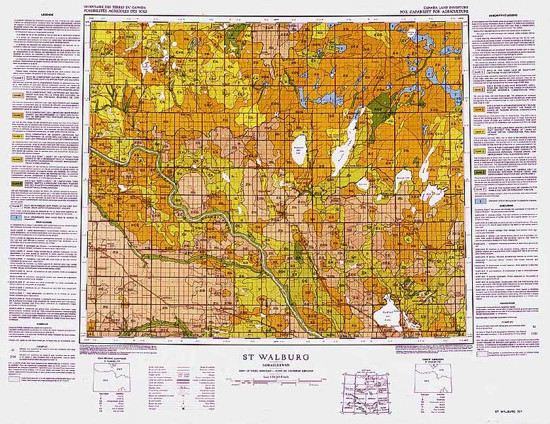 sample canada land inventory map for agriculture at the 1 to 250000 scale