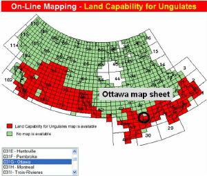 canada wide land capability index map